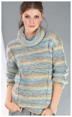 FRONT AND REVERSE SMOOTH SWEATER