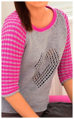 PULLOVER WITH A HEART MOTIF