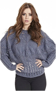 PULLOVER WITH FANCY PATTERNS