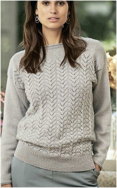 GRAY OPEN MODEL SWEATER