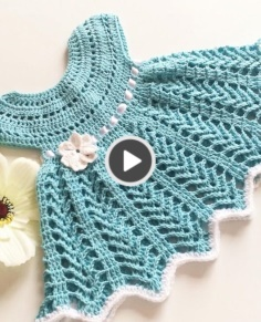 how to crochet princess baby girl dress