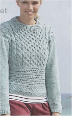 SWEATER WITH TURQUOISE KNITTED PULL