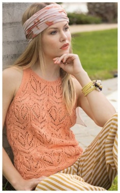 CHARMING APRICOT OPENWORK TOP