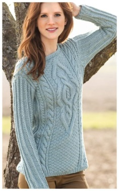 BLUE WOMEN KNITTED SWEATER