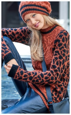 LEOPARD SWEATER PATTERN