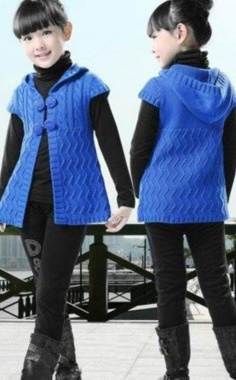 BLUE VEST FOR GIRLS
