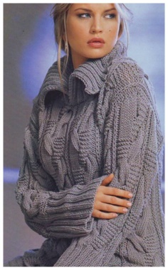 KNITTING COZY VOLUME PULLOVER