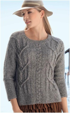 CLASSIC BRAID JUMPER KNITTING