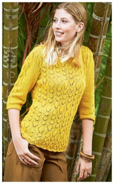 OPENWORK SWEATER WITH 3/4 SLEEVES