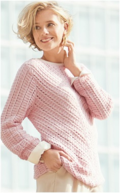 DIAGONAL KNITTING  SWEATER