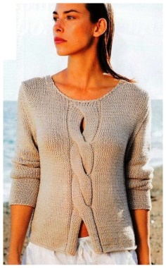 DIFFERENT CENTER BRAIDS PULLOVER