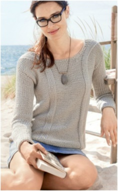 GRAY PULLOVER   ELEGANT AND EASY TO WEAR