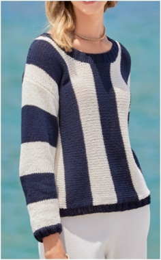 STRIPED PATTERN SWEATER