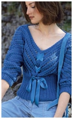 ROMANTIC BLUE PULLOVER
