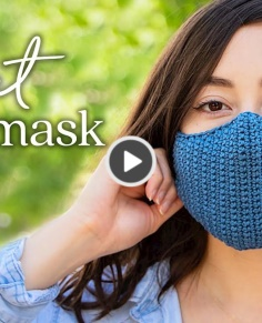 How to Crochet a Face Mask Easy
