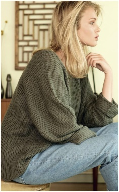 KHAKI LOOSE DOUBLE LOOP PULLOVER