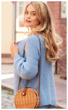 SIMPLE CARDIGAN WITHOUT PUFF SLEEVES  ELEGANT AND CONCISE