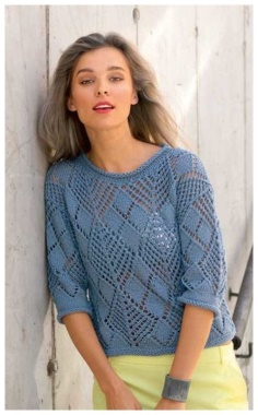 SIMPLE OPENWORK PULLOVER WITH SPOKES