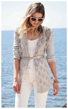 CROCHET AND KNITTING CARDIGAN