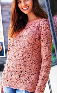 PULLOVER WITH A BEAUTIFUL OPENWORK PATTERN