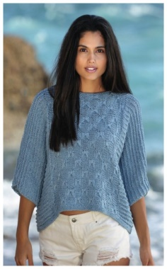 VOLUMETRIC PULLOVER WITH ONE PIECE SLEEVES