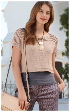 EXTREMELY ELEGANT MESH CROPPED SWEATER