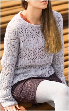 KNIT LIGHT GRAY SWEATER