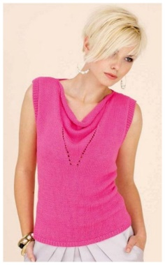 A PINK TOP WITH A FRILL
