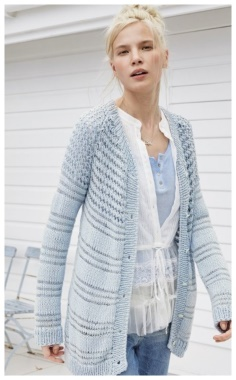 A LIGHT BLUE CARDIGAN IS GENTLE AND NON TRIVIAL