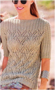 SPECTACULAR OPENWORK PULLOVER KNITTING