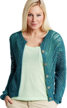 OPENWORK CARDIGAN WITH BUTTONS