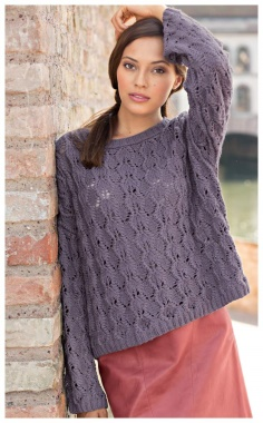 A LOOSE SWEATER WITH AN OPENWORK PATTERN