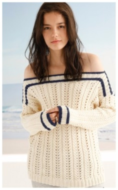 HOLE PULLOVER WITH ELASTIC