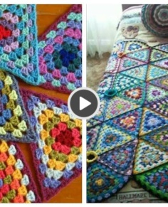 Triangle crochet blanket