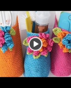 Crochet Bouquet Basket