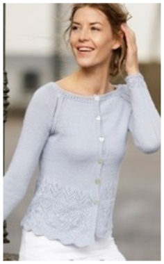 PULLOVER WITH A FANCY LACE PATTERN