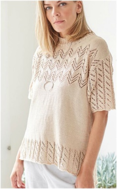 A DELICATE OPENWORK BLOUSE PATTERN