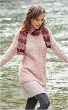 LONG JUMPER PINK COMFORTABLE SWEATER