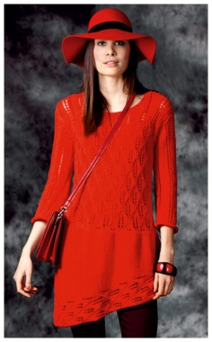 OPENWORK TUNIC WITH BEVELED HEM