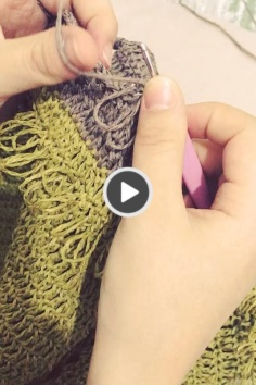 Bag ornament knitting video