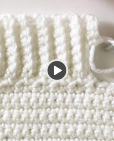 Back Loop Single Crochet Ribbed Border