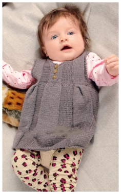 GRAY DRESS FOR THE BABY