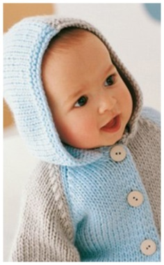 BABY JACKET WITH A HOOD