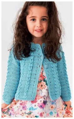 CROCHET A JACKET FOR A GIRL