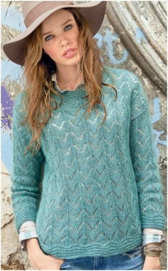 KNITTED TURQUOISE MOHAIR SWEATER