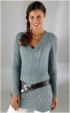 KNITTED SIZE PULL WITH LONG ALTERNATIVE PATTERNS