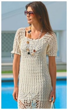 LACE DRESS WITH LACE SQUARES