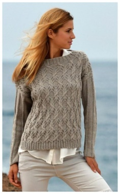 PULLOVER WITH ARANA AND ELASTIC ON THE SLEEVES