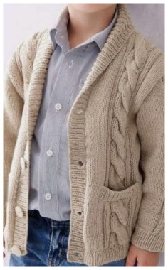 KNITTED JACKET FOR BOYS