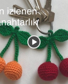 How to make a cherry key ring